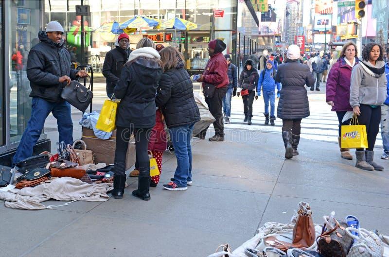 Straatventers binnen in Uit het stadscentrum Manhattan royalty-vrije stock foto's