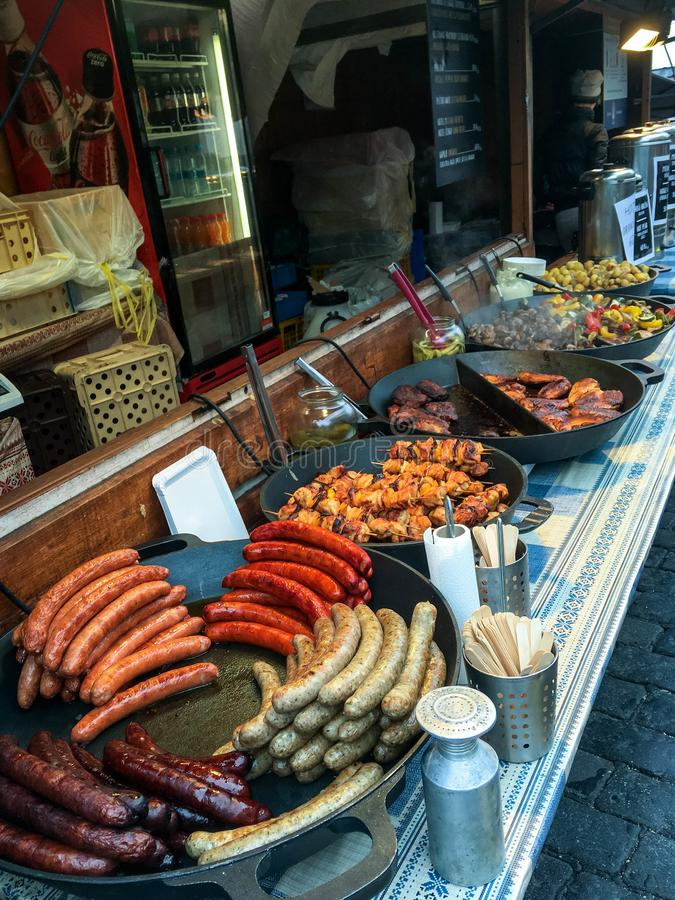 Straatvoeding in Praag royalty-vrije stock afbeelding