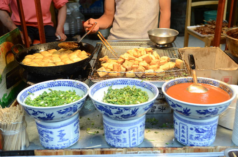 Straatvoedsel in China royalty-vrije stock foto's