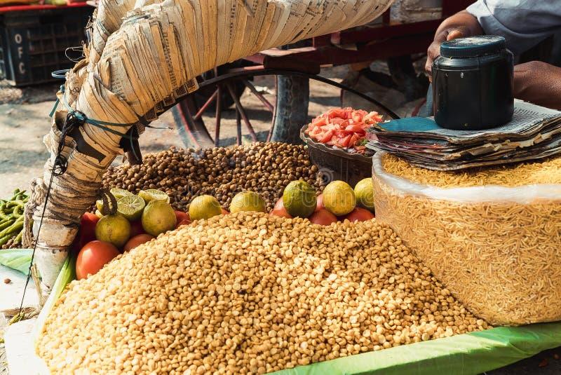 Straatvoedsel in India royalty-vrije stock fotografie