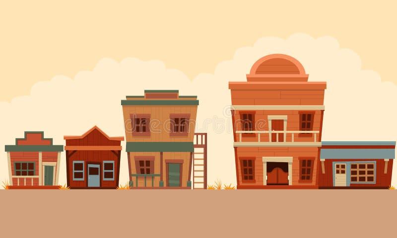 Straatwilde westennen vector illustratie