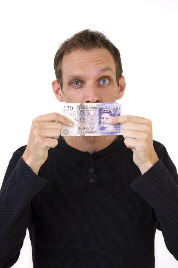 Strabismo dei soldi per la bocca immagini stock