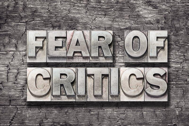 Strach krytycy drewniani obrazy royalty free