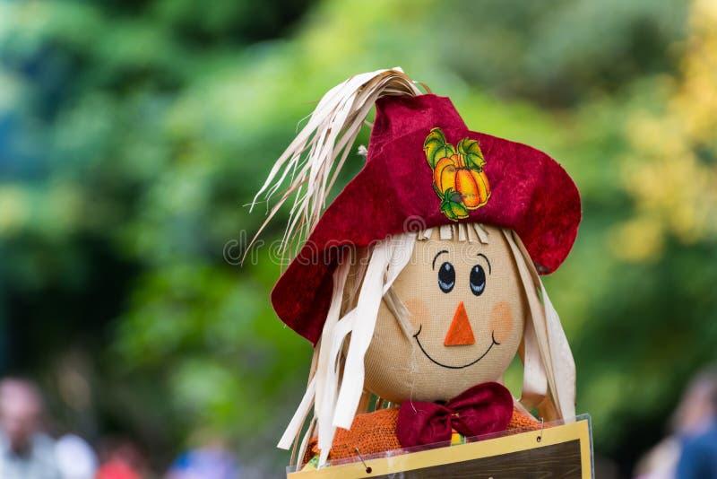 Strach na wróble jesieni dekoracja zdjęcia royalty free