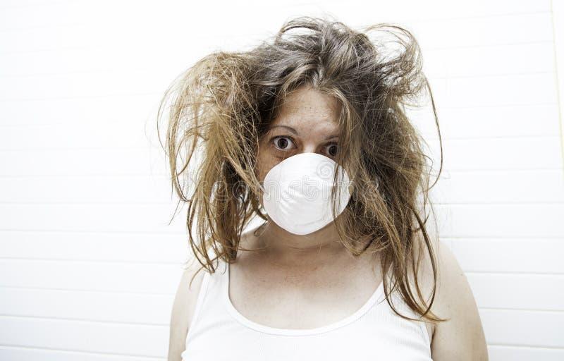 Strach szalona kobieta fotografia stock