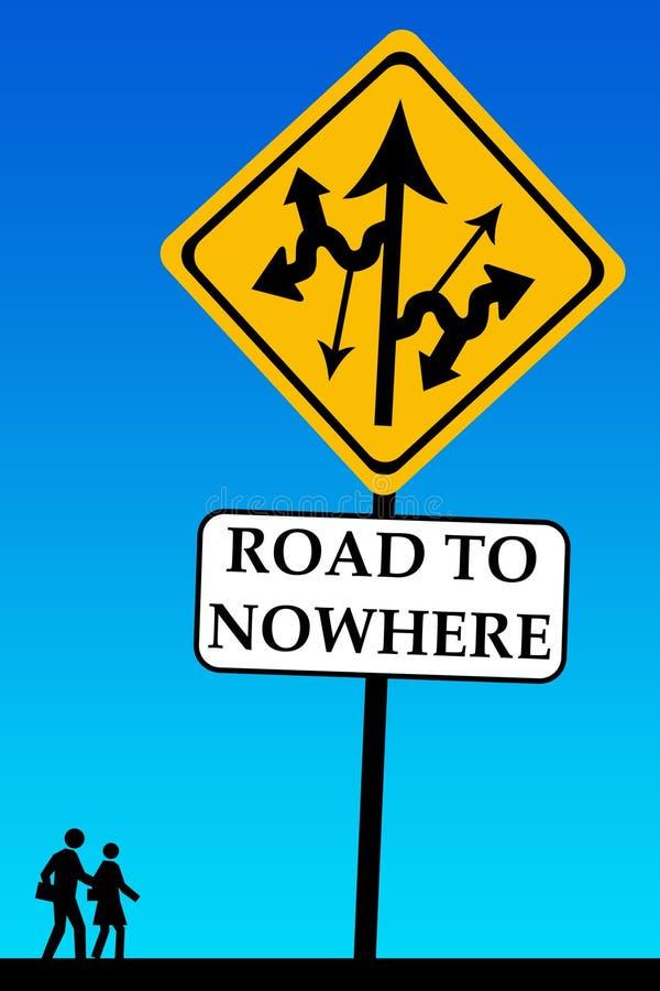 Strada ad in nessun posto illustrazione vettoriale