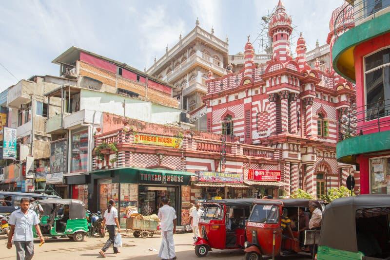 Strada affollata a Colombo fotografia stock