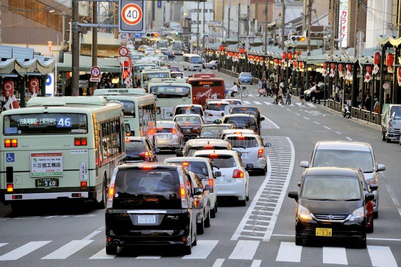 Strada affollata a Kyoto fotografia stock libera da diritti
