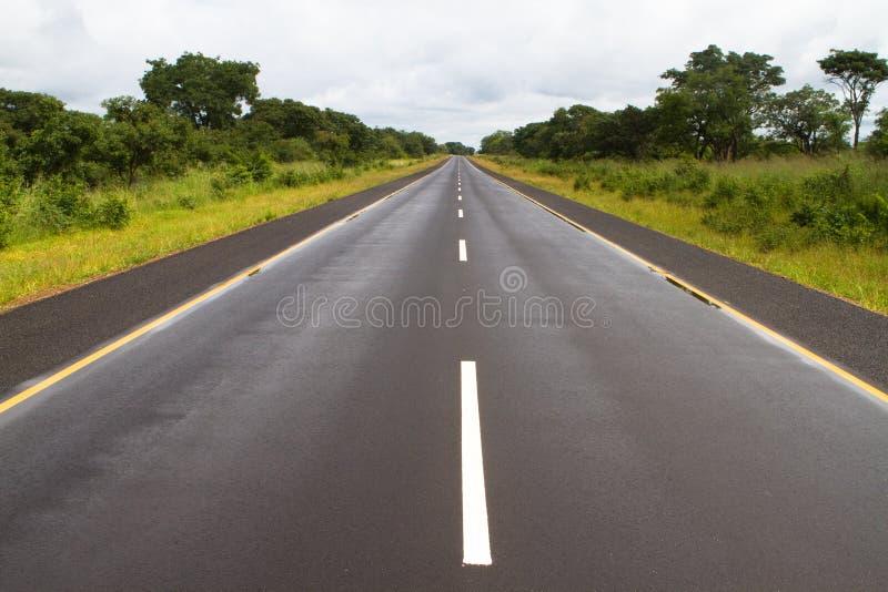 Strada africana del catrame fotografie stock