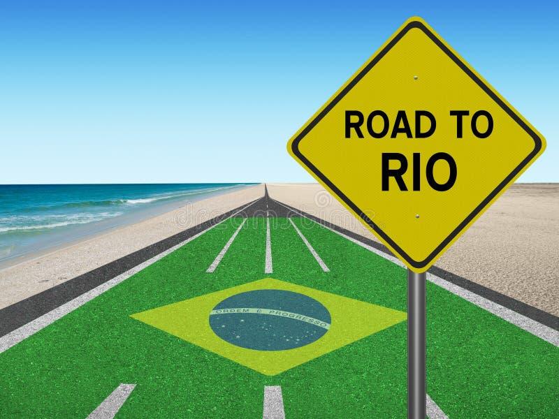 Strada ai giochi olimpici del Brasile a Rio fotografie stock