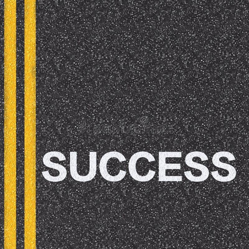 Strada al concetto di successo royalty illustrazione gratis