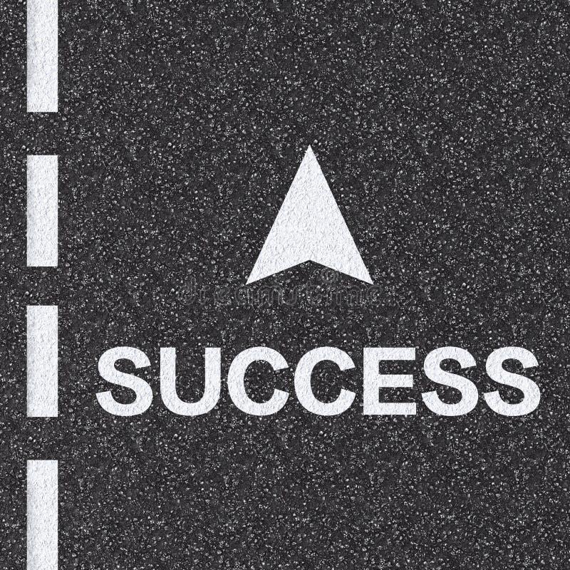 Strada al concetto di successo fotografia stock