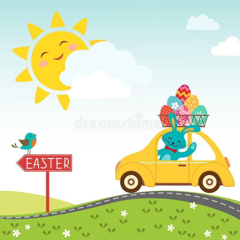 Strada al ????? felice di Pasqua royalty illustrazione gratis