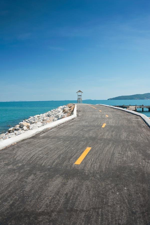 Strada al mare. immagini stock libere da diritti