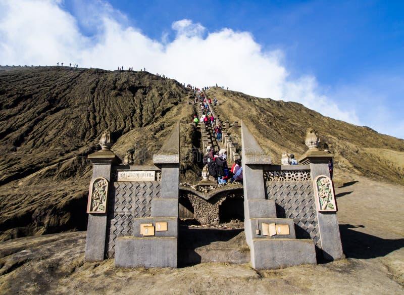 Strada al Mt Bromo fotografie stock