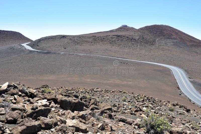 Strada al parco nazionale di Haleakala, Maui (U.S.A.) immagini stock