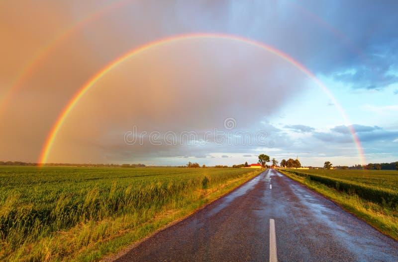 Strada al Rainbow immagine stock libera da diritti