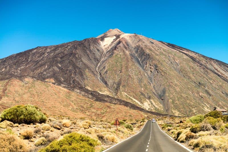 Strada al vulcano di Teide, Tenerife, isole Canarie fotografia stock