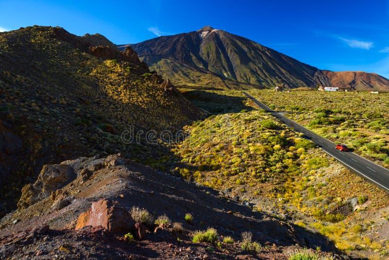 Strada al vulcano Teide a Tenerife fotografia stock libera da diritti