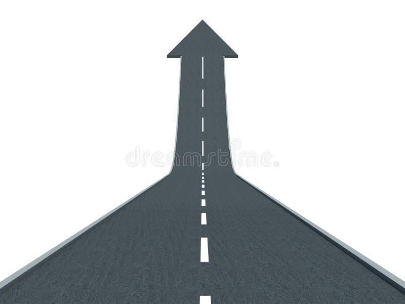Strada all'aumento finanziario di successo alla cima ed al sollevamento illustrazione vettoriale