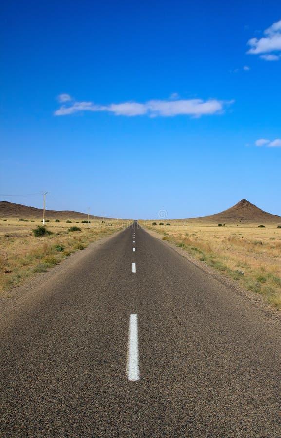 Strada all'infinità fotografie stock libere da diritti