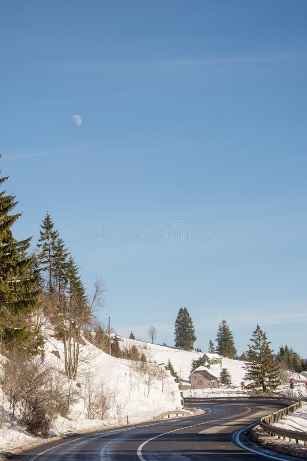 Strada alla luna immagine stock
