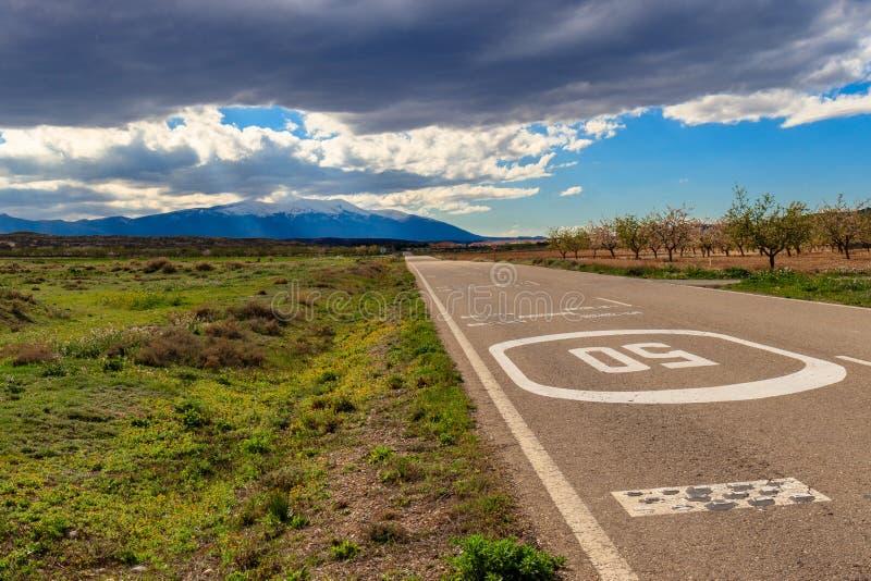 Strada alla montagna fotografia stock libera da diritti