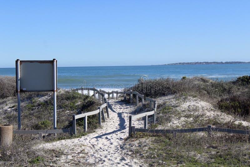 Strada alla spiaggia immagine stock libera da diritti