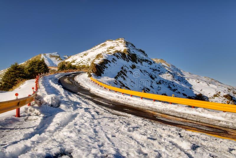 Strada in alta montagna fotografia stock libera da diritti