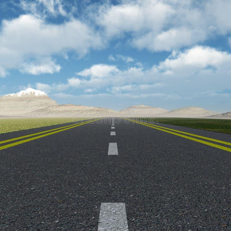 Strada asfaltata illustrazione di stock