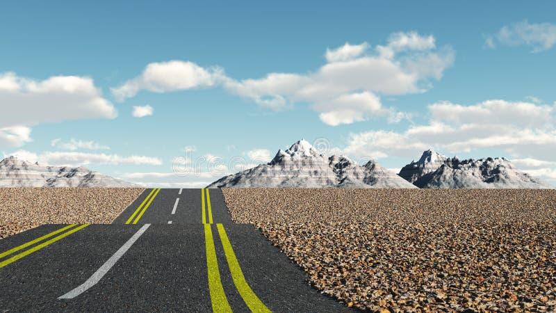 Strada asfaltata immagini stock