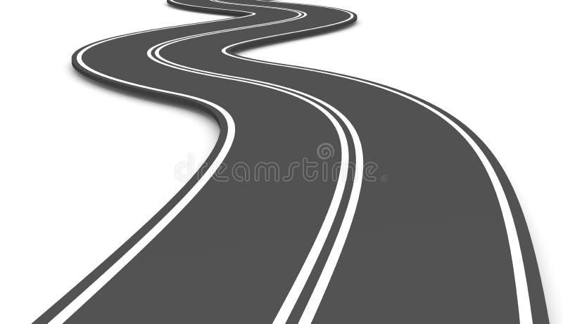 Strada asfaltata royalty illustrazione gratis
