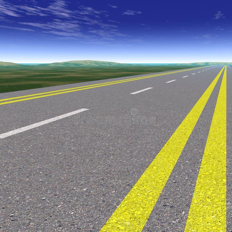 Strada asfaltata fotografia stock libera da diritti