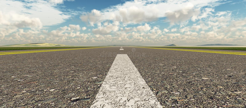 Strada asfaltata panoramica illustrazione vettoriale
