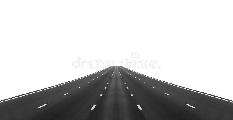 Strada asfaltata vuota della strada principale fotografia stock libera da diritti