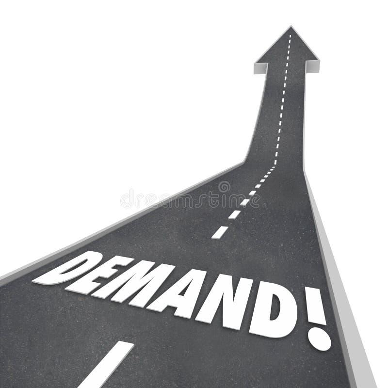 Strada in aumento di parola della domanda che va su aumentare migliorare illustrazione vettoriale