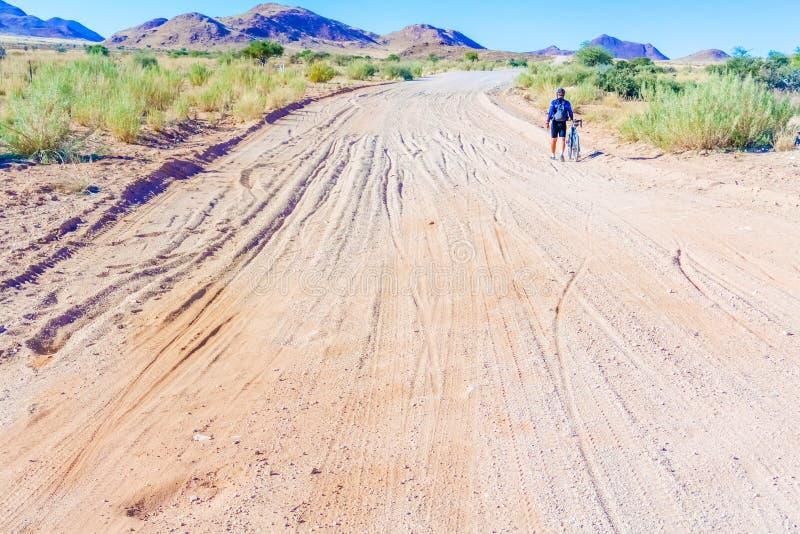 Strada C 27 in Namibia fotografia stock