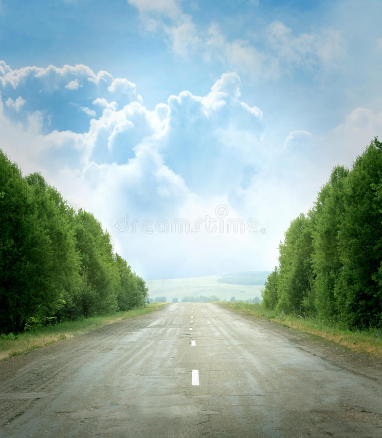 Strada campestre immagini stock libere da diritti