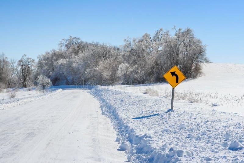 Strada campestre in inverno fotografia stock libera da diritti