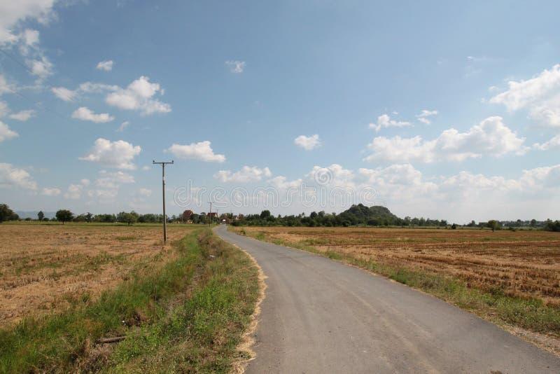 Strada campestre in Tailandia immagine stock libera da diritti