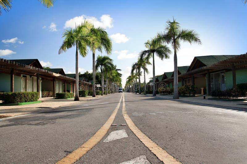 Strada caraibica immagini stock