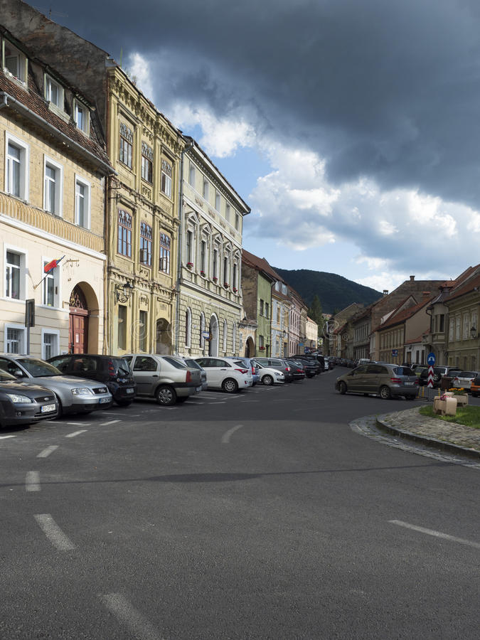Strada Castelului in Brasov, Romania royalty free stock images