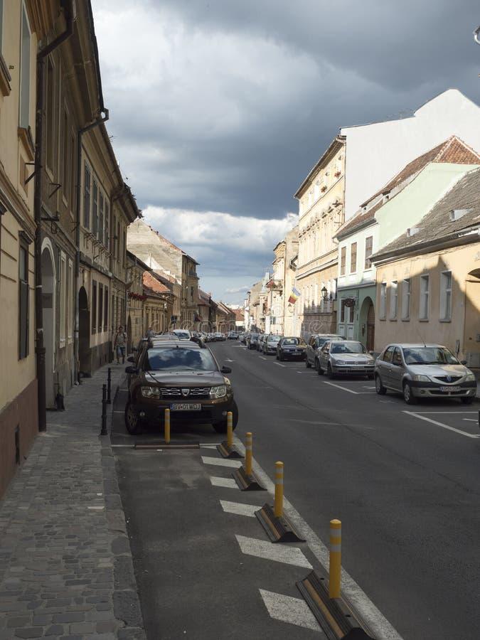Strada Castelului in Brasov, Romania stock image