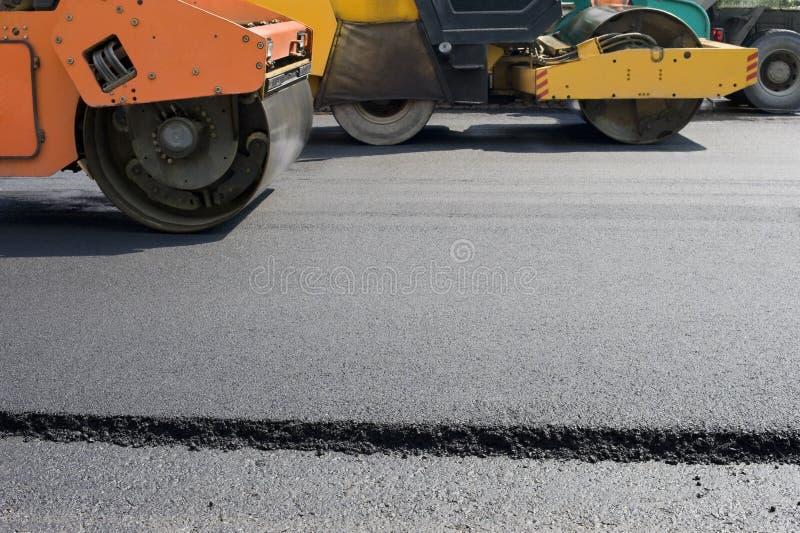 Strada che pavimenta costruzione immagini stock