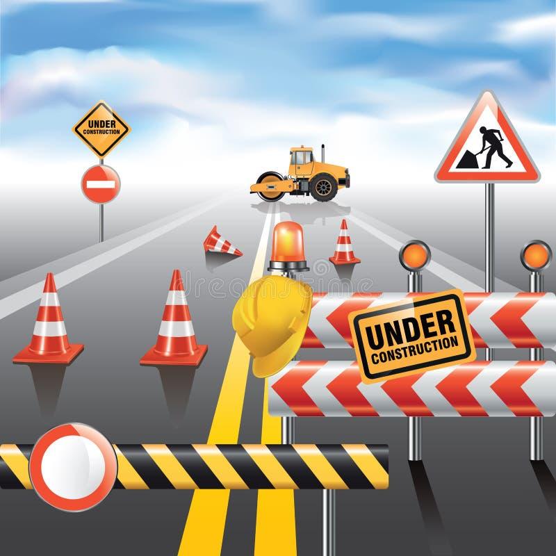 Strada in costruzione illustrazione vettoriale