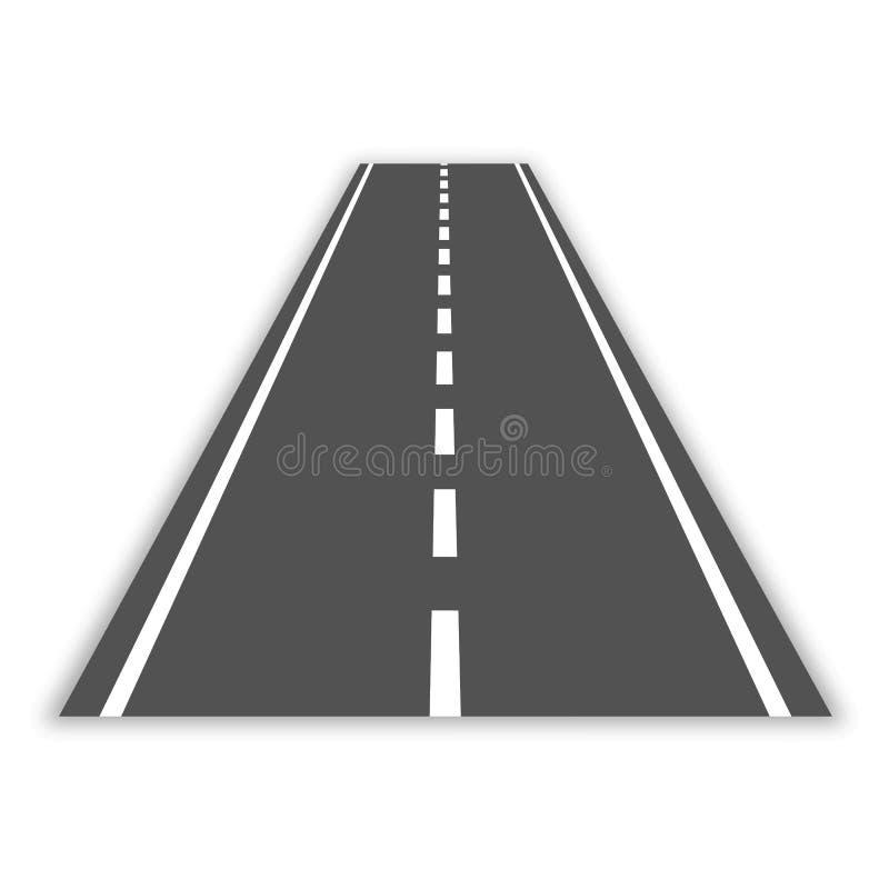 Strada curva con le marcature bianche Illustrazione di vettore illustrazione di stock