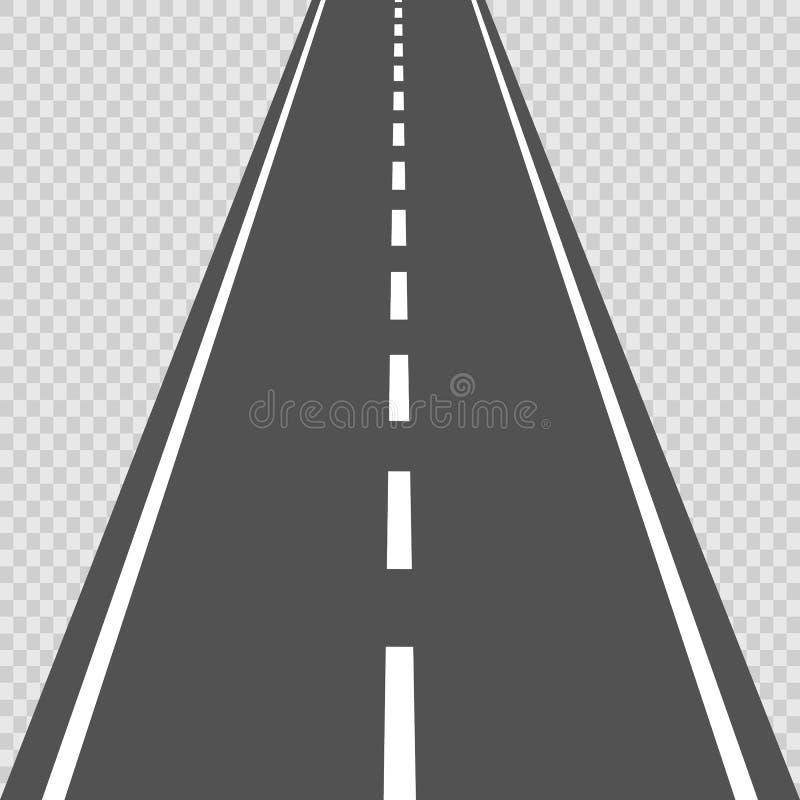 Strada curva con le marcature bianche Illustrazione di vettore royalty illustrazione gratis