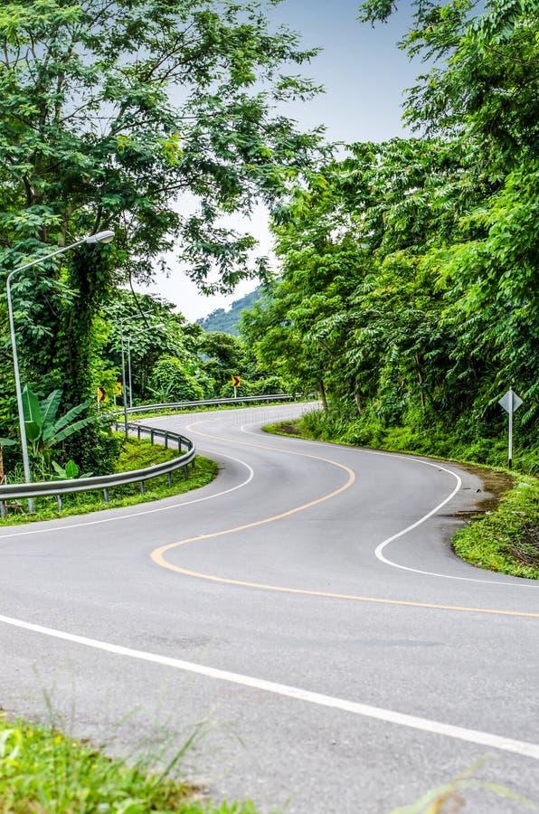 Strada curva serpente fotografia stock