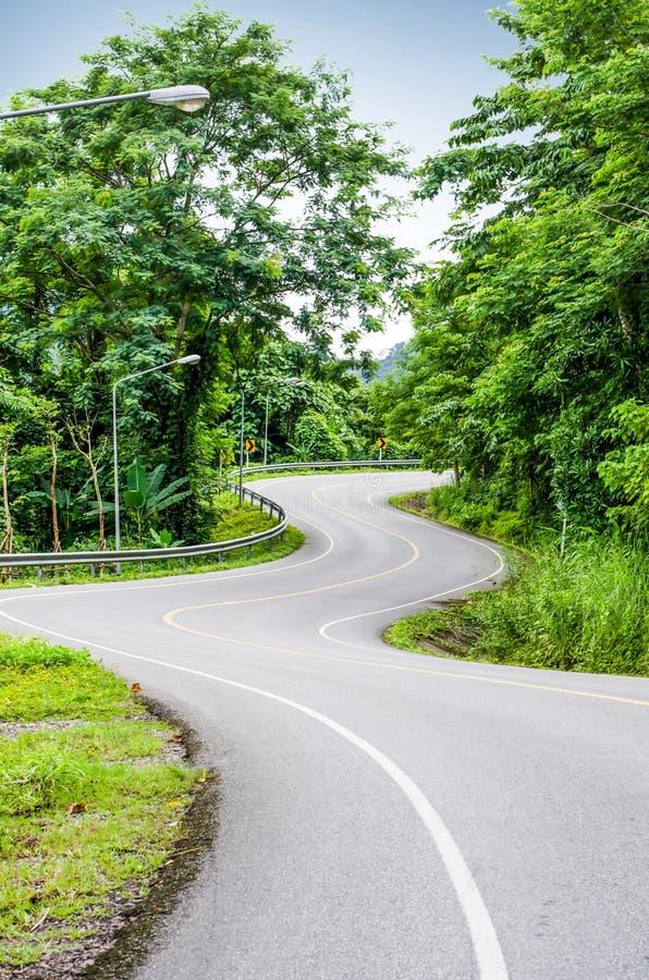 Strada curva serpente immagini stock
