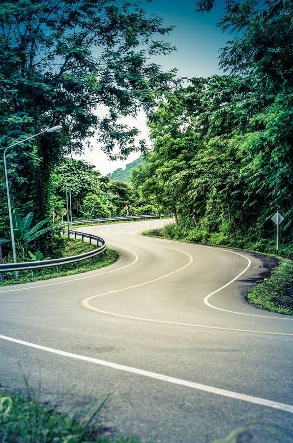 Strada curva serpente fotografia stock libera da diritti